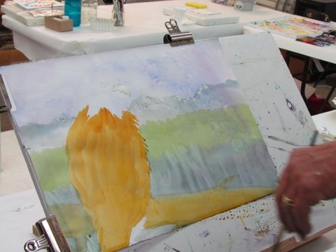 KBWS Joined Artist Bruce Sink For A Wondeful Full Day Of Painting Demonstrations Sharing Ideas And Techniques To Enhance Watercolor Paintings