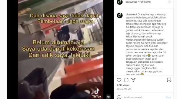 Viral Curhat Gadis Medan, Pacar Dipenjarakan Ortu karena Tak Direstui Nikah