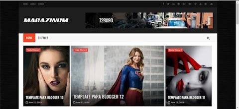 Magazinum Blogger Template
