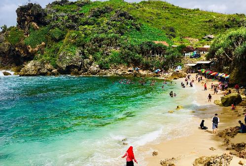 Wisata Pantai Nglambor Gunung Kidul Jogja