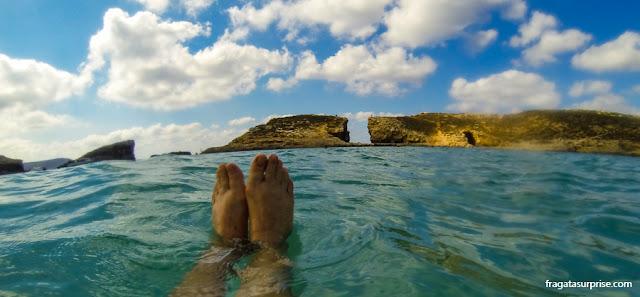 Viajar sozinha para a Lagoa Azul, Malta
