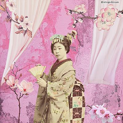 Sakura. Art by Rachel Hancock @retrogoddesses