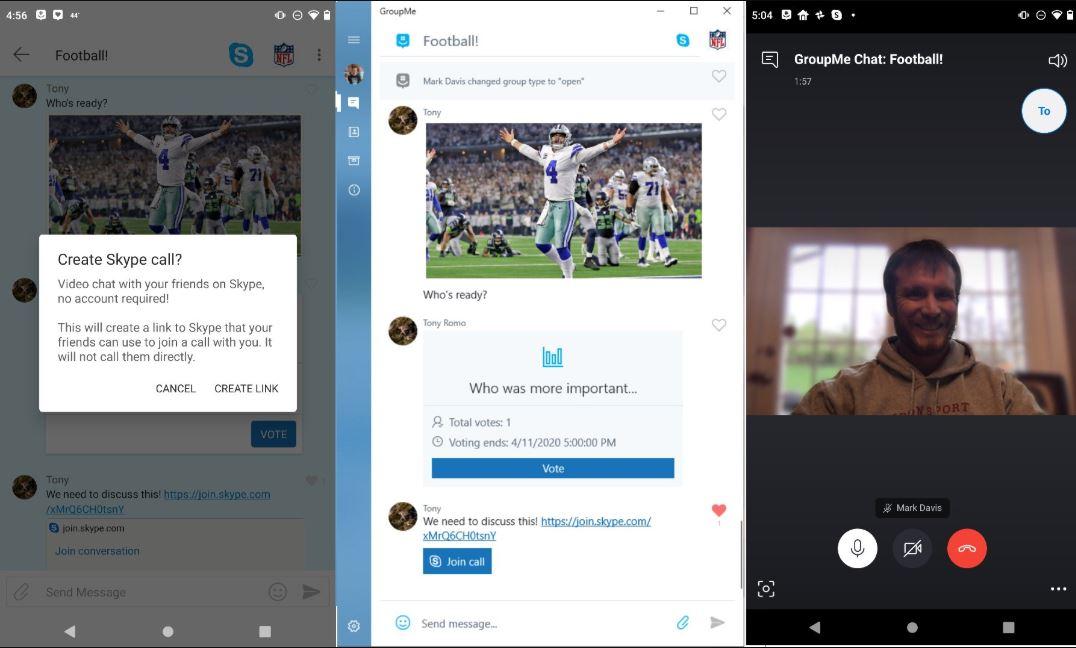 Microsoft GroupMe ottiene le videochiamate di Skype