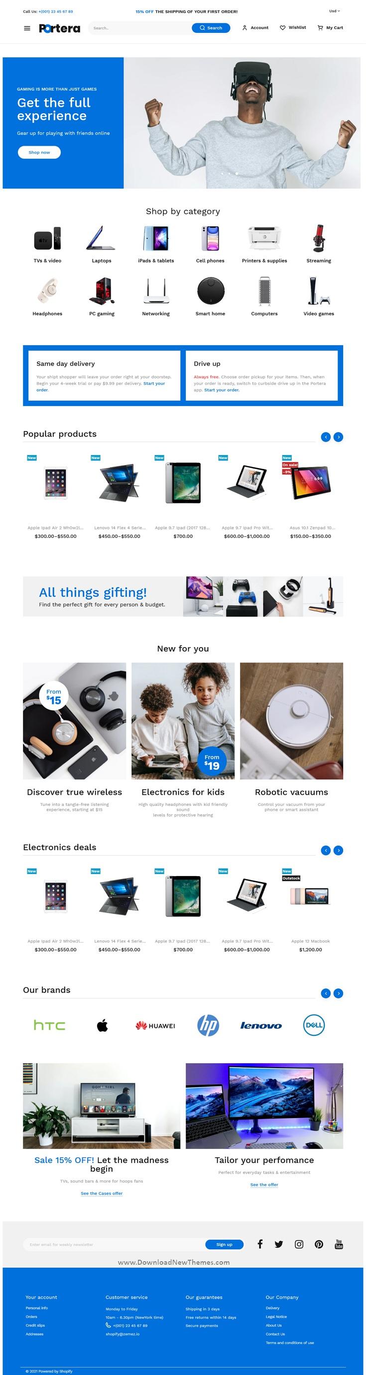 Portera - Minimal Shopify Theme for Dropshipping