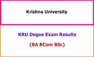 Krishna University Degree Exam Results 2021