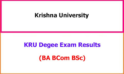 Krishna University Degree Exam Results