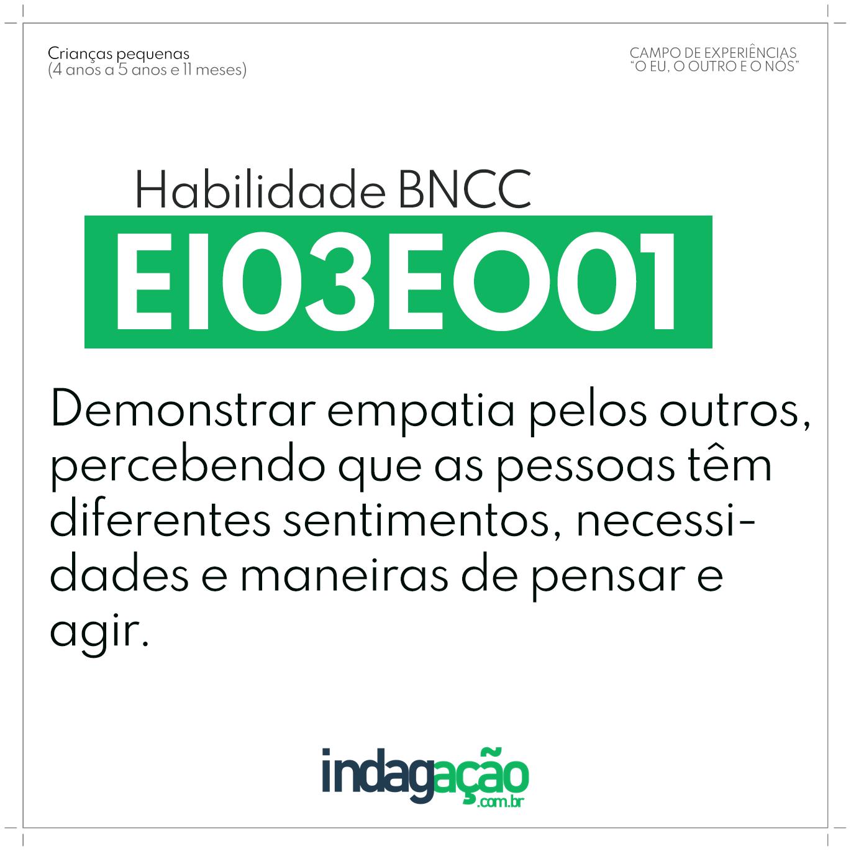 Habilidade EI03EO01 BNCC