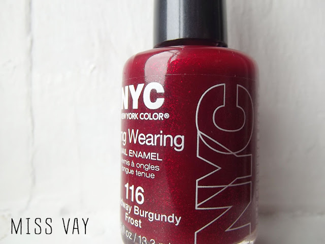 Broadway Burgundy Frost nail polish vernis ongles NYC