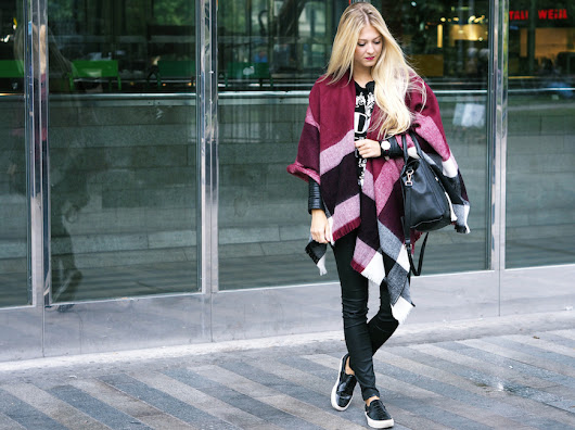 The Nattiness: Poncho Trend, Layering | a Blogerka roku 2015