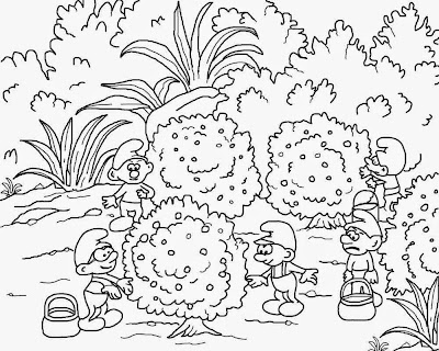 Complex coloring pages for teenagers film2 Smurf free pictures to color and print for older children