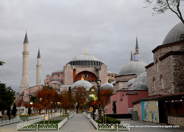 the stunningly beautiful Hagia Sophia