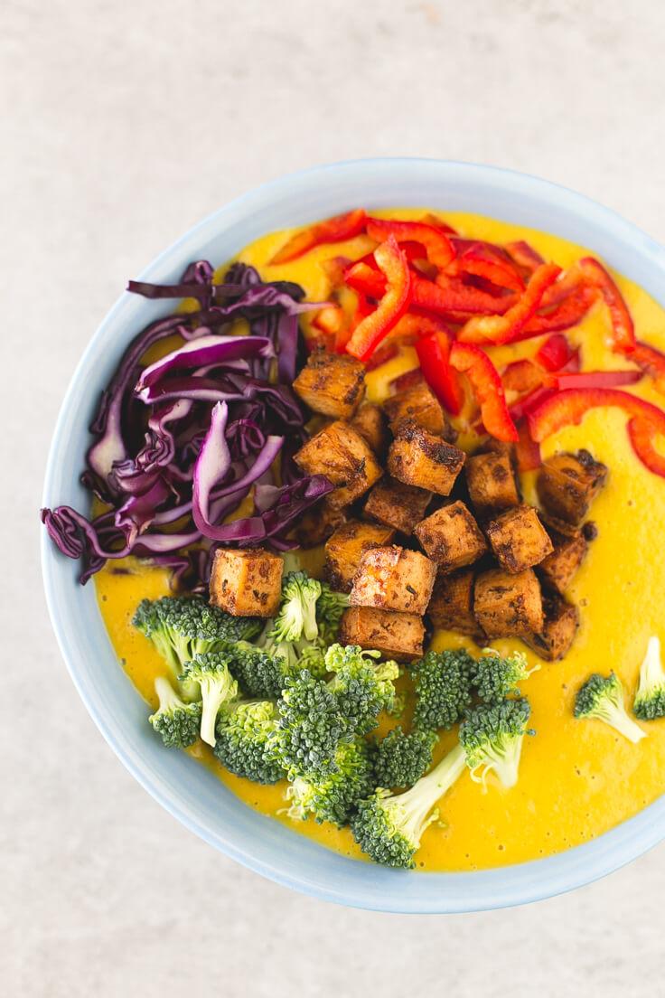 Vegetable curry soup | danceofstoves.com #vegan