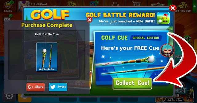 Free 8 ball pool Golf Battle Cue For everyone