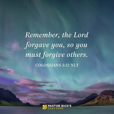 Forgive Because You're Forgiven by Rick Warren