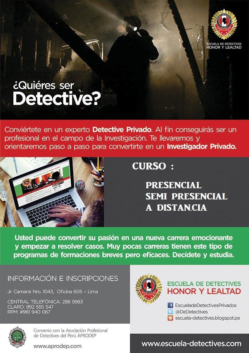 escuela detective privado