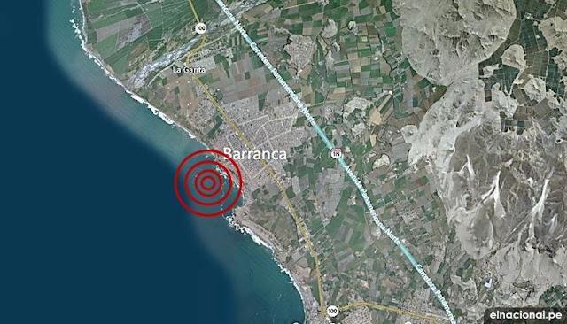Barranca: sismo de magnitud 5 se registró esta mañana en Lima