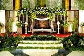 dekorasi bunga pernikahan di rumah
