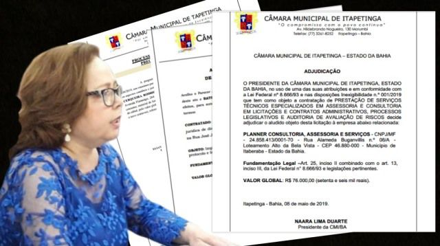 Ministério Público dá 10 dias para Naara rescindir contrato de R$ 76 mil