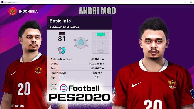 PES 2020 Bambang Pamungkas Face by ANDRI MOD