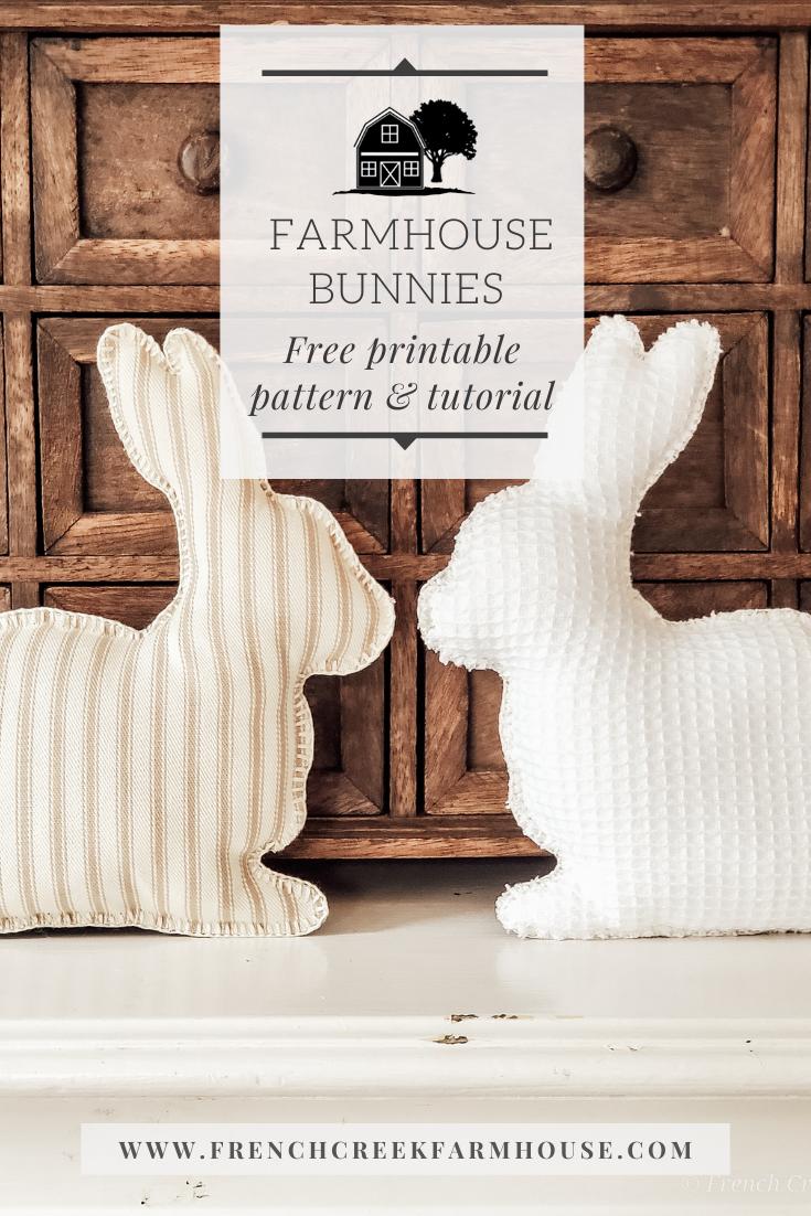 Farmhouse Fabric Bunnies