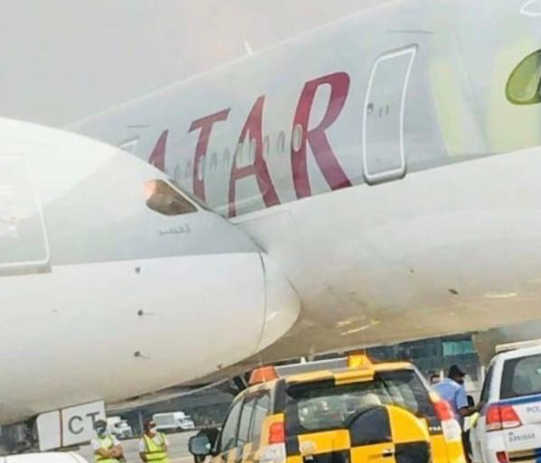 Qatar Airways Boeing 787 Collided With A Parked A350 In Doha