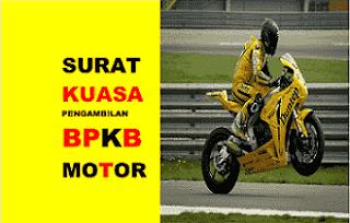 Contoh Surat Kuasa Pengambilan BPKB Kendaraan (Motor dan ...