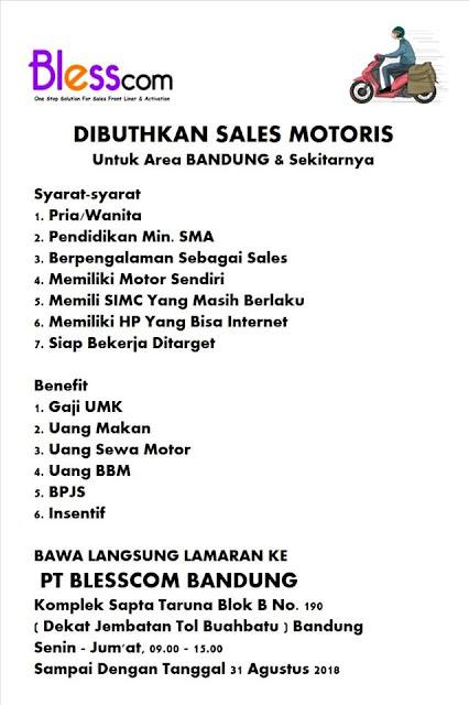 Lowongan Kerja PT. Blesscom Bandung