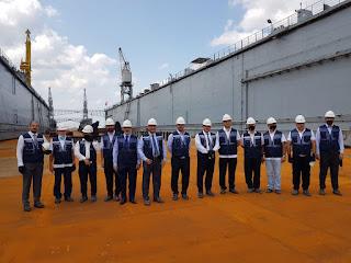 وفد وزارة النقل يزور أكبر شركات صيانة وتصنيع السفن في تركيا
