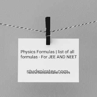 FORMULA BOOKLET For JEE-NEET