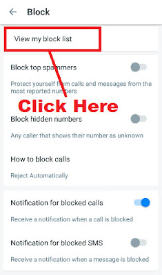 how to block a series of phone numbers in truecaller app