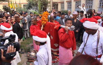 Fulpati day of Dashain Festival