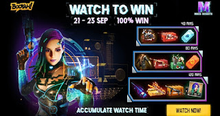 Free Fire watch and win event
