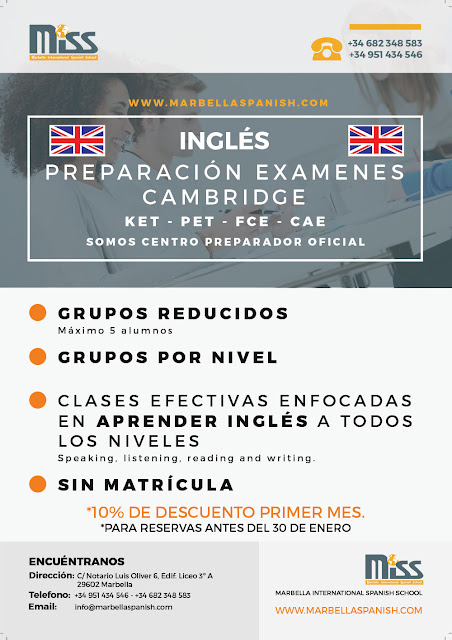 Preparación Examenes Cambridge - Inglés @ Miss Marbella International Language School