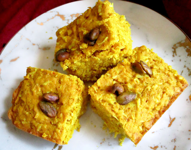 Quick and Easy Coconut Turmeric Spelt Cake