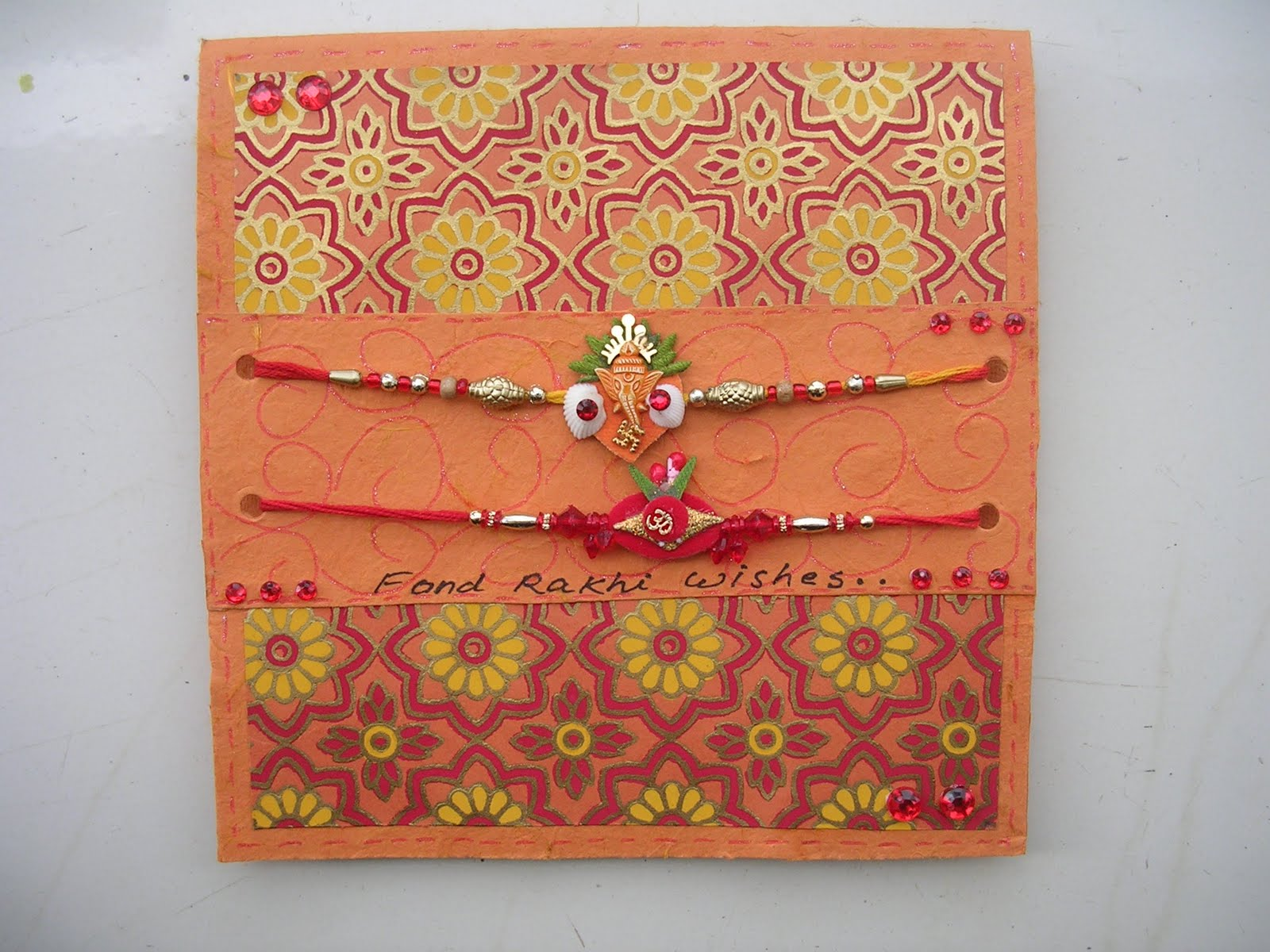 vishesh collections  handmadedeepti rakhi card