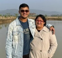 Riyan Parag with here mother