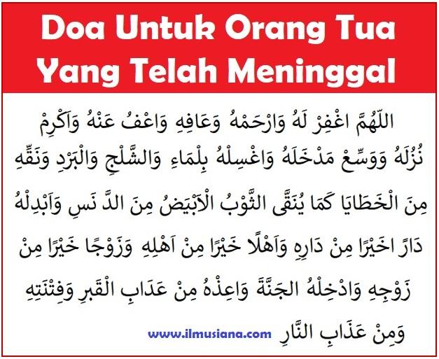 Doa Untuk Orang Tua yang sudah Meninggal
