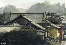 金沢の街/水彩画/Kanazawa/Watercolor/
