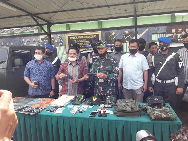Denpom ll/3-Korem 043/Gatam tangkap TNI Gadungan Berpangkat Letkol