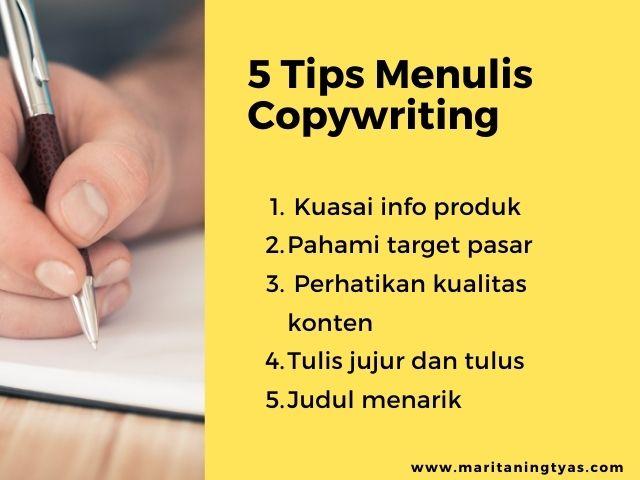 cara menulis copywriting