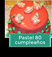 PASTEL 80 CUMPLEAÑOS {COBERTURA ESPEJO}