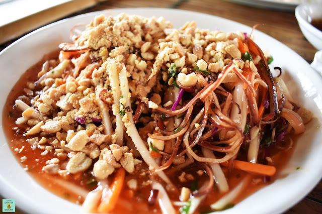 Gastronomía en Mai Chau, Vietnam