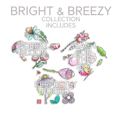 Polkadoodles Bright & Breezy collection: Reach for the skies, Perfectly Poised & Forest Floor
