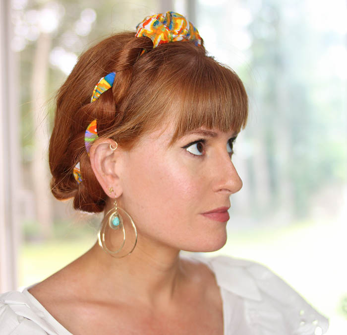 Easy Scarf Milkmaid Braids - Gina Michele