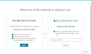 add site : Cara submit artikel ke search engine bing