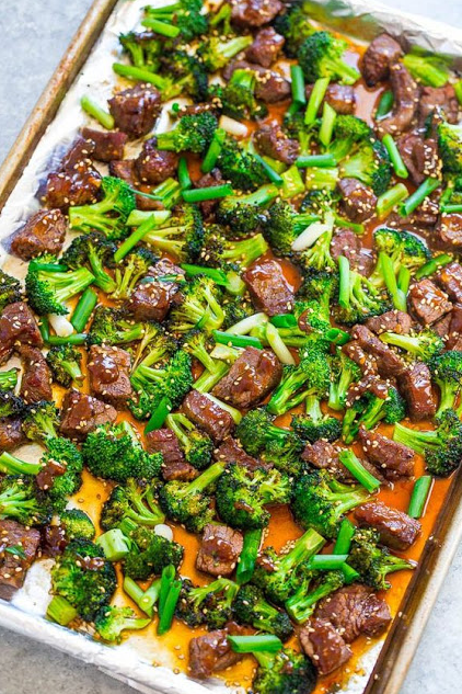 Sheet Pan Beef and Broccol