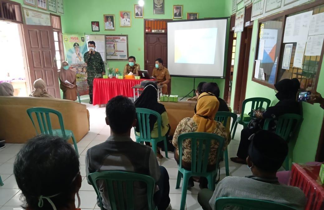 Babinsa Koramil 410-03TBU Kodim 0410KBL Pelda Sahrul Akib, menghadiri kegiatan MMK di tingkat kelurahan Bakung
