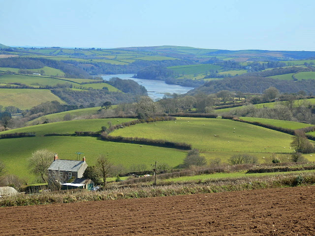Fowey River meandering through Cornwall
