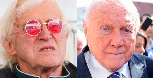 Jimmy Savile y Stuart Hall