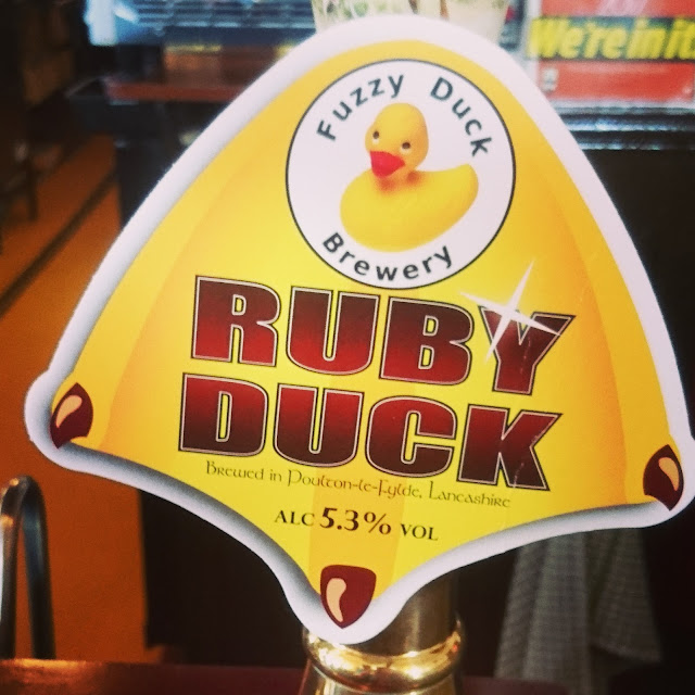Lancashire Craft Beer Review: Ruby Duck from Fuzzy Duck real ale pump clip